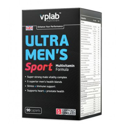 VPLAB ULTRA MEN SPORT MULTIVITAMIN, 90 таблеток