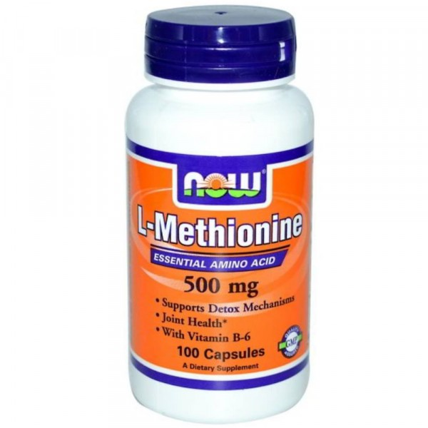 NOW L-METHIONINE, 500 мг, 100 капсул