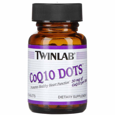 Коэнзим TWINLAB COQ10 DOTS, 60 капсул