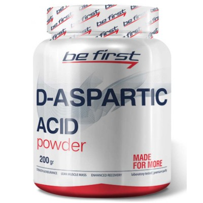 Д-аспарагиновая BE FIRST D-ASPARTIC ACID POWDER, 200 г