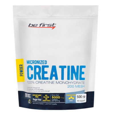 BE FIRST MICRONIZED CREATINE MONOHYDRATE POWDER, 500 г