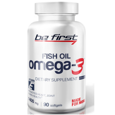 Омега жиры BE FIRST Omega 3 + vitamin E, 90 капсул