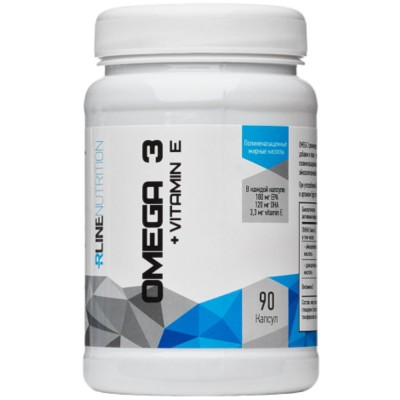 RLINE OMEGA-3 + VITAMIN E, 90 капсул