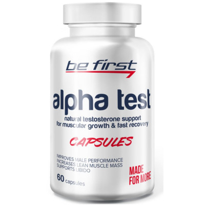 Тестобустер BE FIRST ALPHA TEST, 60 капсул