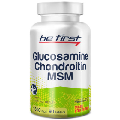 BE FIRST GLUCOSAMINE + CHONDROITIN + MSM, 90 таблеток