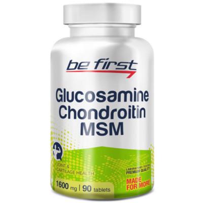 Препарат для связок и суставов BE FIRST GLUCOSAMINE + CHONDROITIN + MSM, 90 таблеток