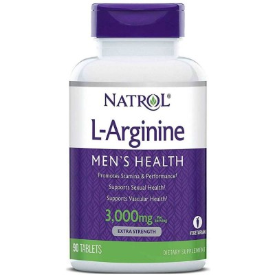 NATROL L-ARGININE, 3000 мг, 90 таблеток
