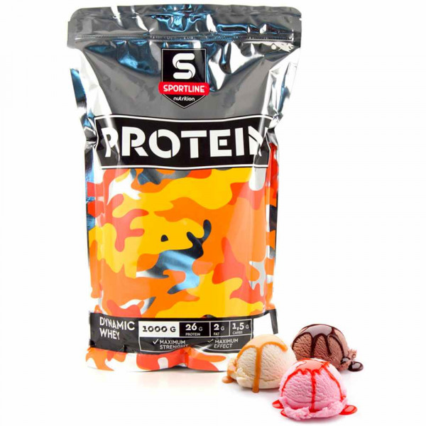 Протеин сывороточный SPORTLINE DYNAMIC WHEY PROTEIN, 1000 г