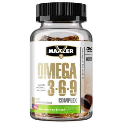 Омега жиры MAXLER OMEGA 3-6-9 COMPLEX, 90 капсул