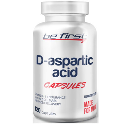 Д-аспарагиновая кислота BE FIRST D-ASPARTIC ACID POWDER, 120 капсул