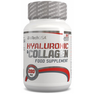 Препарат для связок и суставов BIOTECH HYALURONIC & COLLAGEN, 30 капсул