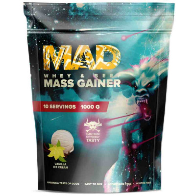 MAD MASS GAINER WHEY & Beef, 1000 г, 10 порций