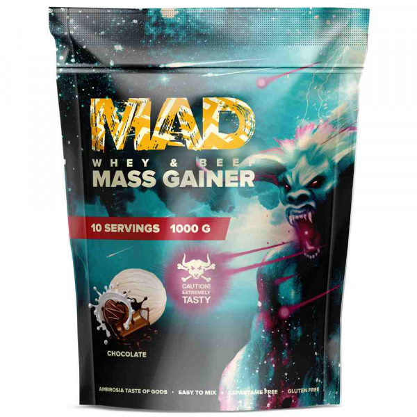 Гейнер MAD MASS GAINER WHEY & Beef, 1000 г, 10 порций