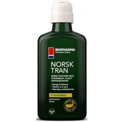Омега жиры BIOPHARMA NORSK TRAN OMEGA-3 со вкусом лимона, 250 мл