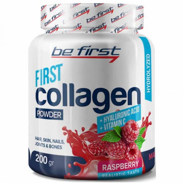 Препарат для связок и суставов BE FIRST COLLAGEN+HYALURONIC ACID+VITAMIN C, 200 г,  30 порций