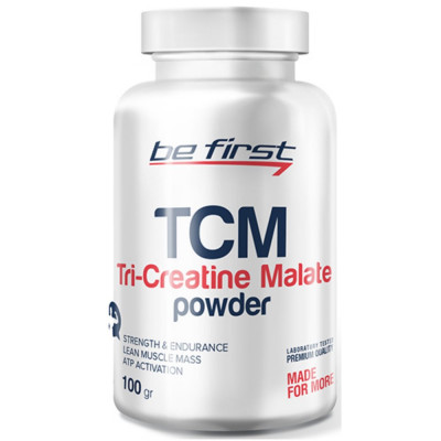 Креатин BE FIRST TRI-CREATINE MALATE POWDER, 100 г