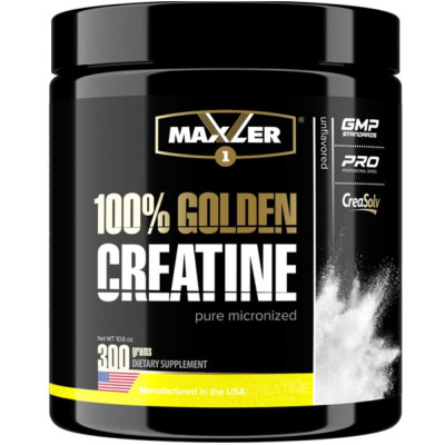 MAXLER GOLDEN MICRONIZED CREATINE, 300 г