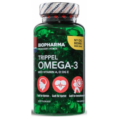 BIOPHARMA OMEGA-3 TRIPLE, 144 капсул