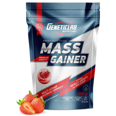 Гейнер GENETIC LAB MASS GAINER, 1000 г / 10 порций