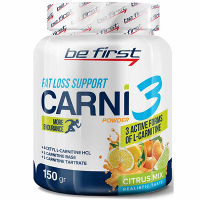 L-карнитин BE FIRST CARNI 3 POWDER, 150 г
