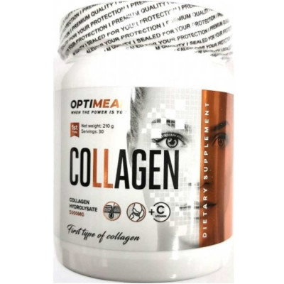 OPTIMEAL COLLAGEN + VITAMIN C, 210 г, 30 порций