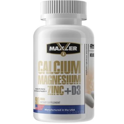 MAXLER CALCIUM-ZINK-MAGNESIUM + D3, 90 таблеток