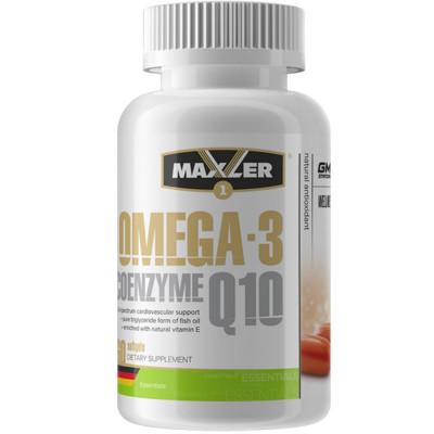 Омега жиры MAXLER OMEGA-3 COENZYME Q10  1000 mg \ 100mg, 60 капсул