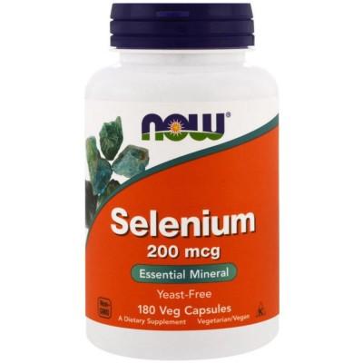 Селен NOW SELENIUM, 200 мкг, 180 капсул