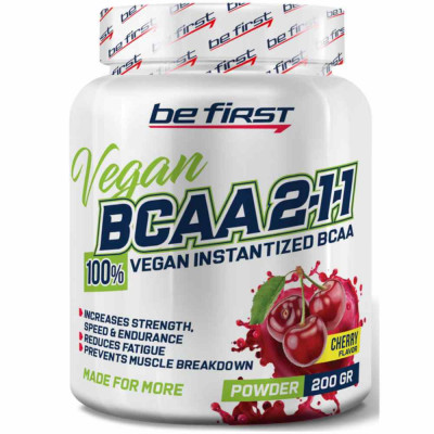 BE FIRST BCAA 2:1:1 VEGAN INSTATIZED POWDER, 200 г