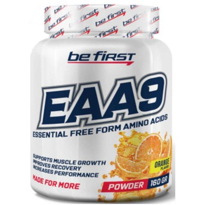 Комплекс аминокислот BE FIRST EAA9 POWDER, 160 г, 30 порций