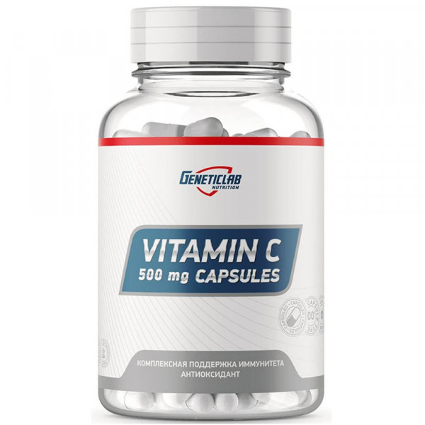 Витамин C GENETIC LAB VITAMIN C 500 mg, 60 капсул