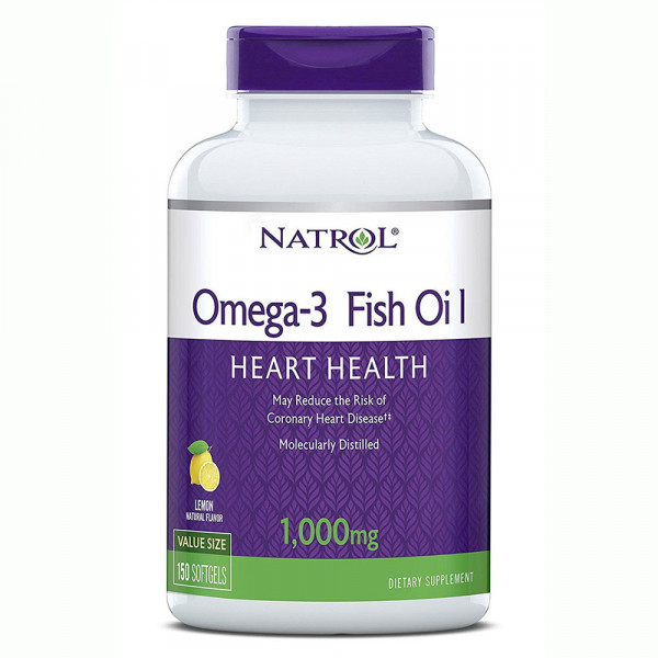 Омега жиры NATROL OMEGA-3 FISH OIL 1000 mg, 150 капсул