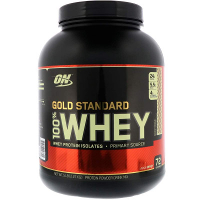 Протеин сывороточный OPTIMUM NUTRITION WHEY PROTEIN NATURAL 100% GOLD, 2270 г, 72 порции