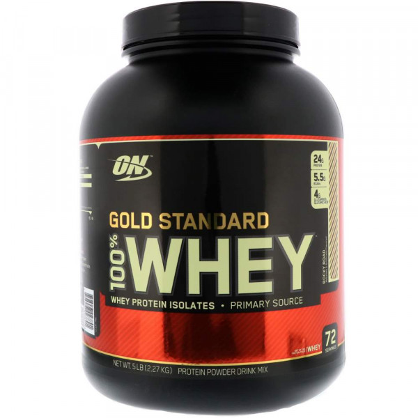 Протеин сывороточный OPTIMUM NUTRITION WHEY PROTEIN NATURAL 100% GOLD, 2270 г, 72 порции