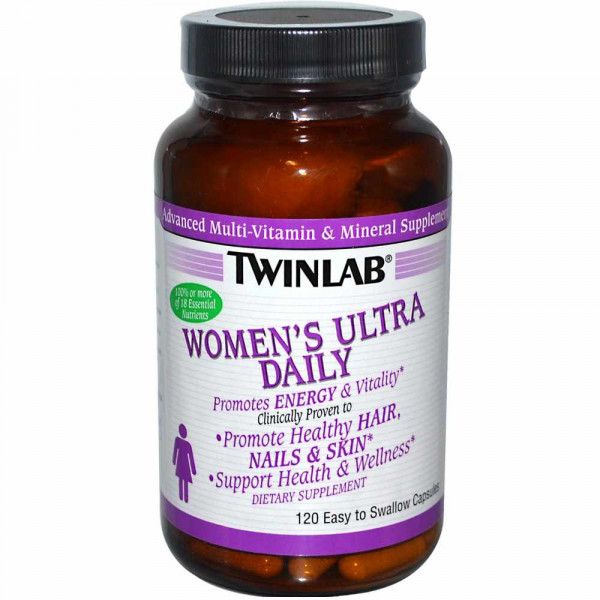 Витаминно-минеральный комплекс TWINLAB WOMENS ULTRA DAILY CAPS, 120 капсул