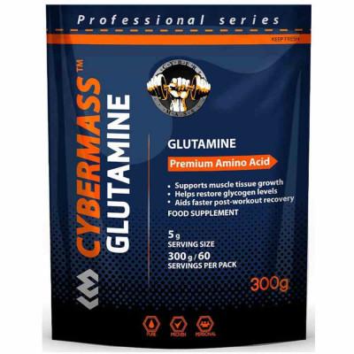 Глютамин CYBERMASS GLUTAMINE, 300 г, 60 порций