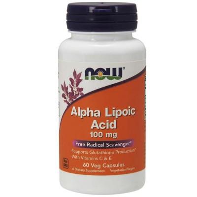 Альфа-липоевая кислота NOW ALPHA LIPOIC ACID, 100 мг, 60 капсул