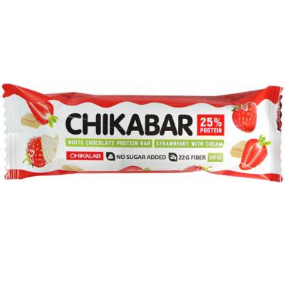 Батончик CHIKABAR в белом шоколаде с начинкой, 60 г