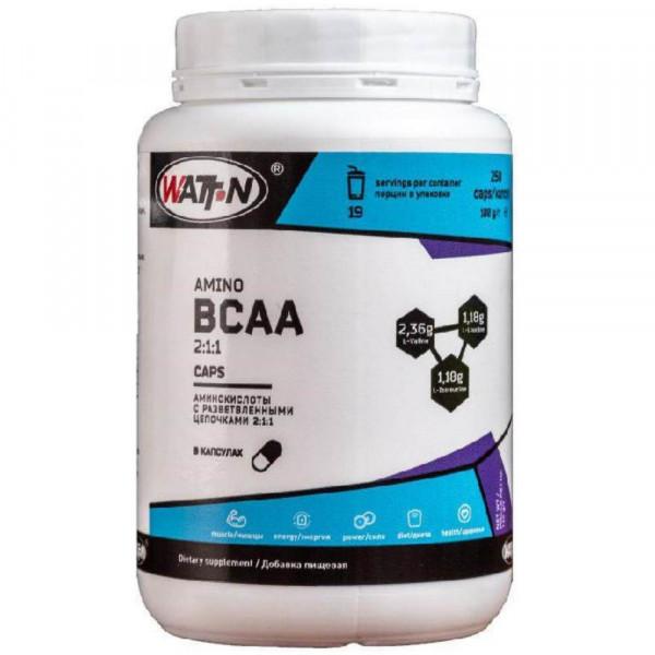 WATT NUTRITION BCAA 2-1-1, 250 г, 50 порций