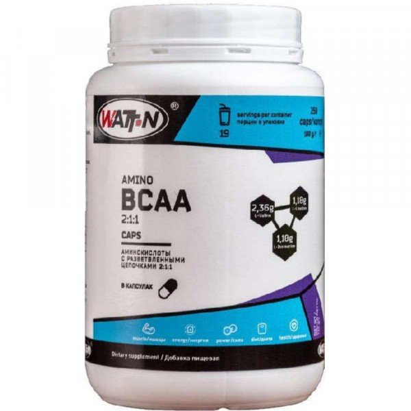 WATT NUTRITION BCAA 2-1-1, 500 гр, 100 порции