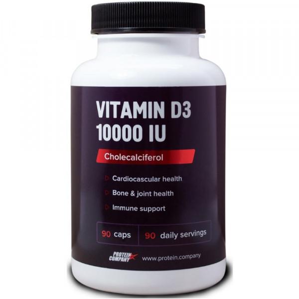 Витаминно-минеральный комплекс PROTEIN COMPANY VITAMIN D3 10000 IU, 90 капсул