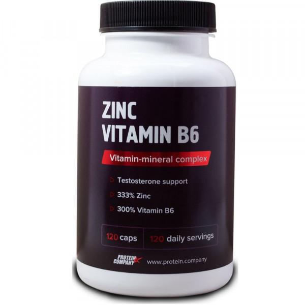 Витаминно-минеральный комплекс PROTEIN COMPANY ZINC VITAMIN B6, 120 капсул