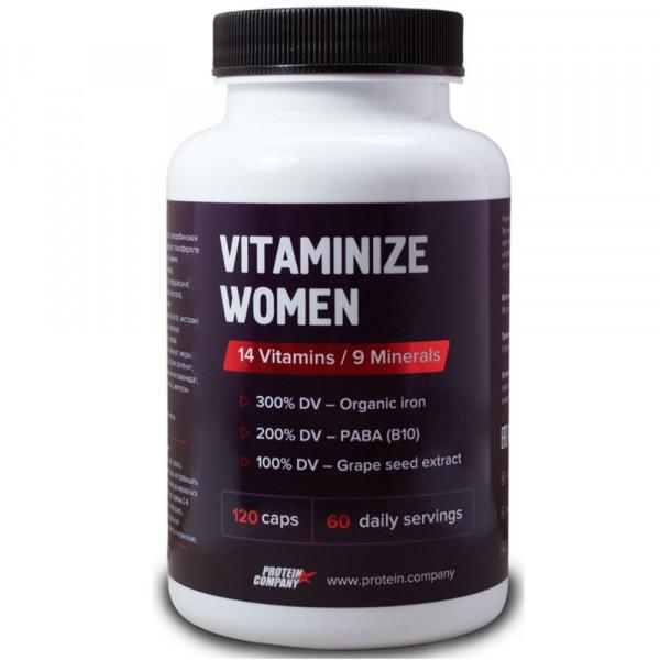Витаминно-минеральный комплекс PROTEIN COMPANY VITAMINIZE WOMAN, 120 капсул