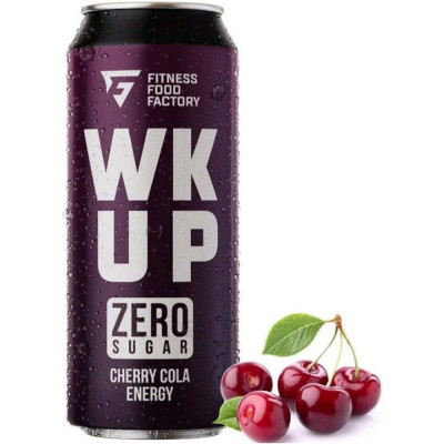 Напиток спортивный FITNESS FOOD FACTORY WK UP, 500 мл