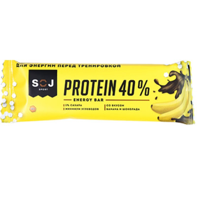Батончик SOJ PROTEIN 40 % протеиновый, 40 г