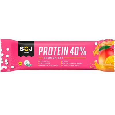 Батончик SOJ PROTEIN 40 % VEGAN протеиновый, 40 г