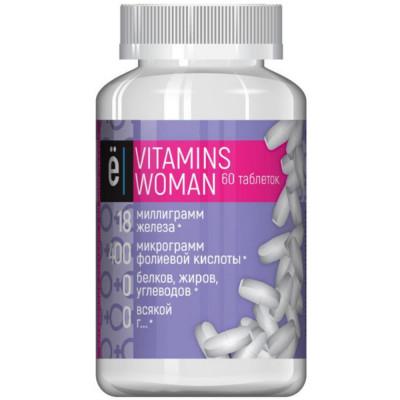 Витаминно-минеральный комплекс Ё/БАТОН VITA WOMEN, 60 таблеток