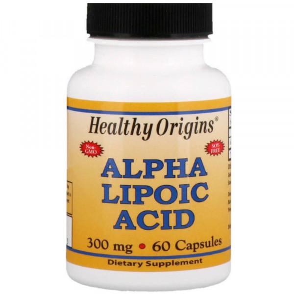 Альфа-липоевая кислота HEALTHY ORIGINS ALPHA LIPOIC ACID 300 mg, 60 капсул