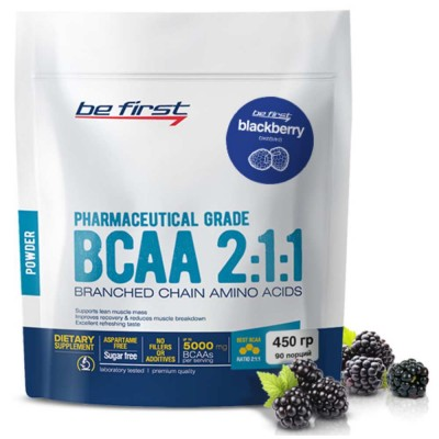 BE FIRST BCAA 2:1:1 POWDER, 450 g