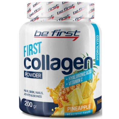 BE FIRST COLLAGEN+HYALURONIC ACID+VITAMIN C, 200 г,  30 порций